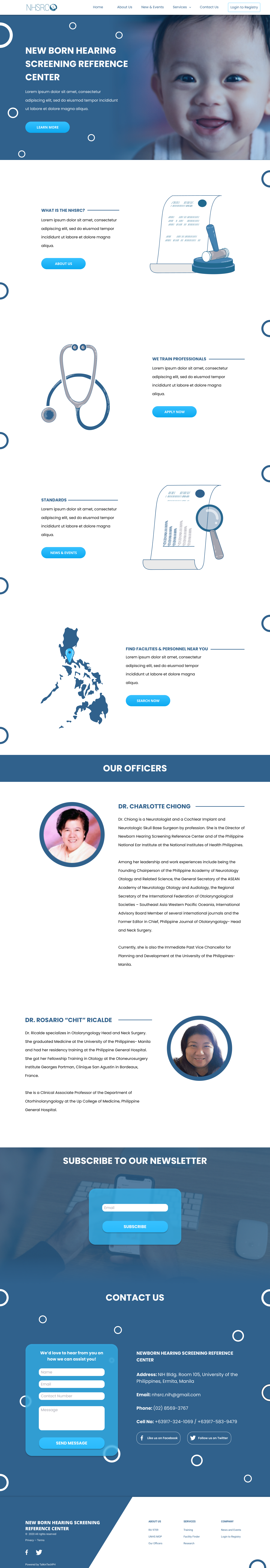 NHSRC web design