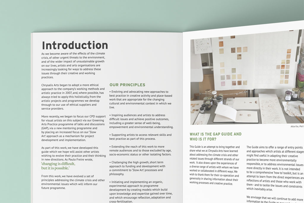 Greening Arts Practice Guide