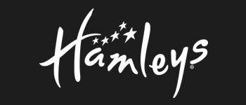 Hamleys logo in black and white