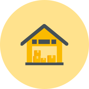 Home removals and storage icon