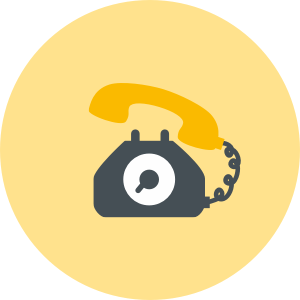 House removals phone support icon in grey, yellow and black