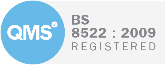 BS:8522 badge certifying domestic removals.