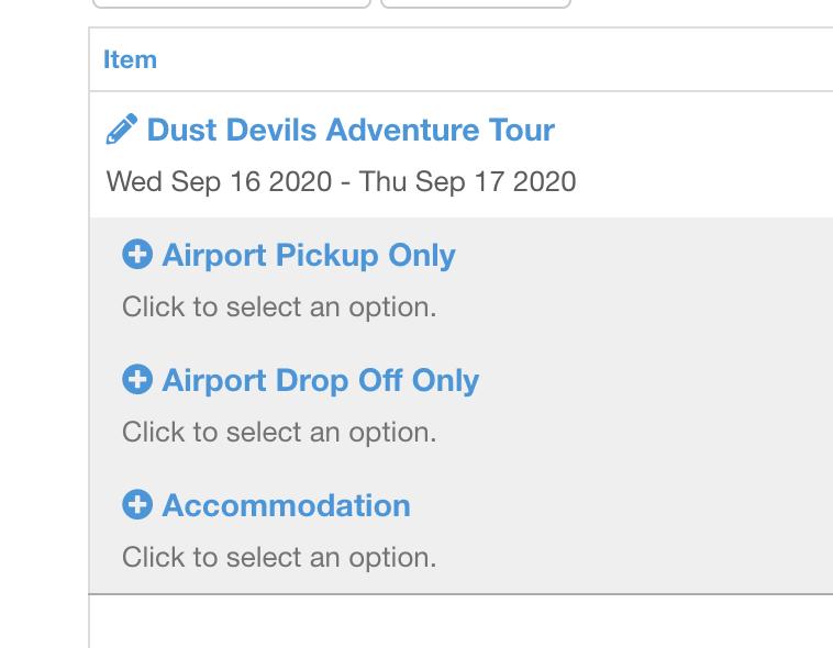 Configure your tour