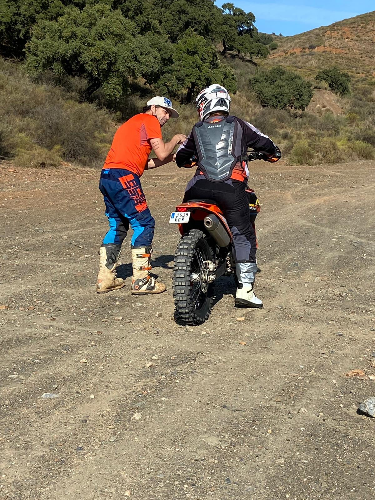A teacher delivering enduro and off road training