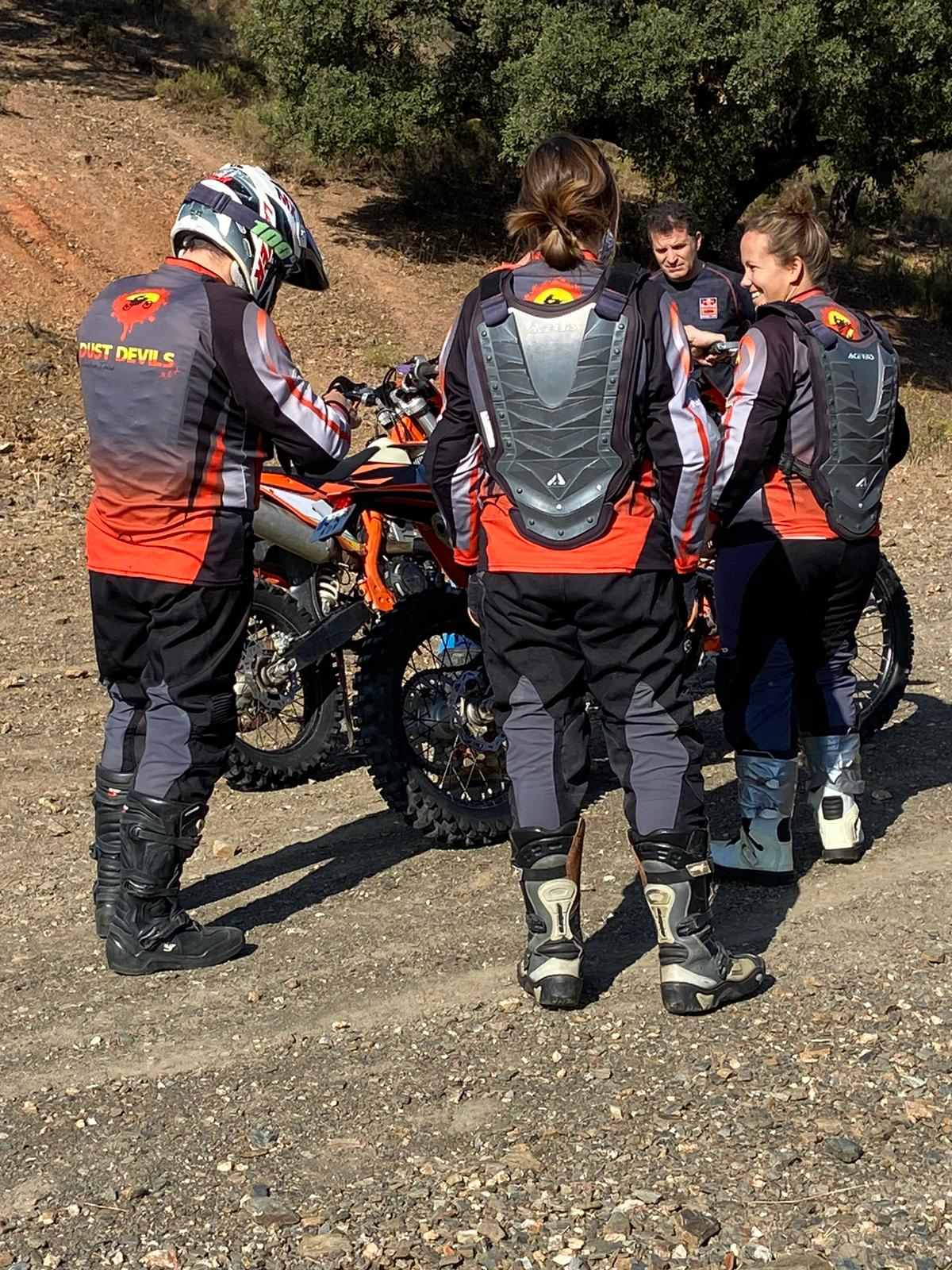 Enduro training being given to a small group of people