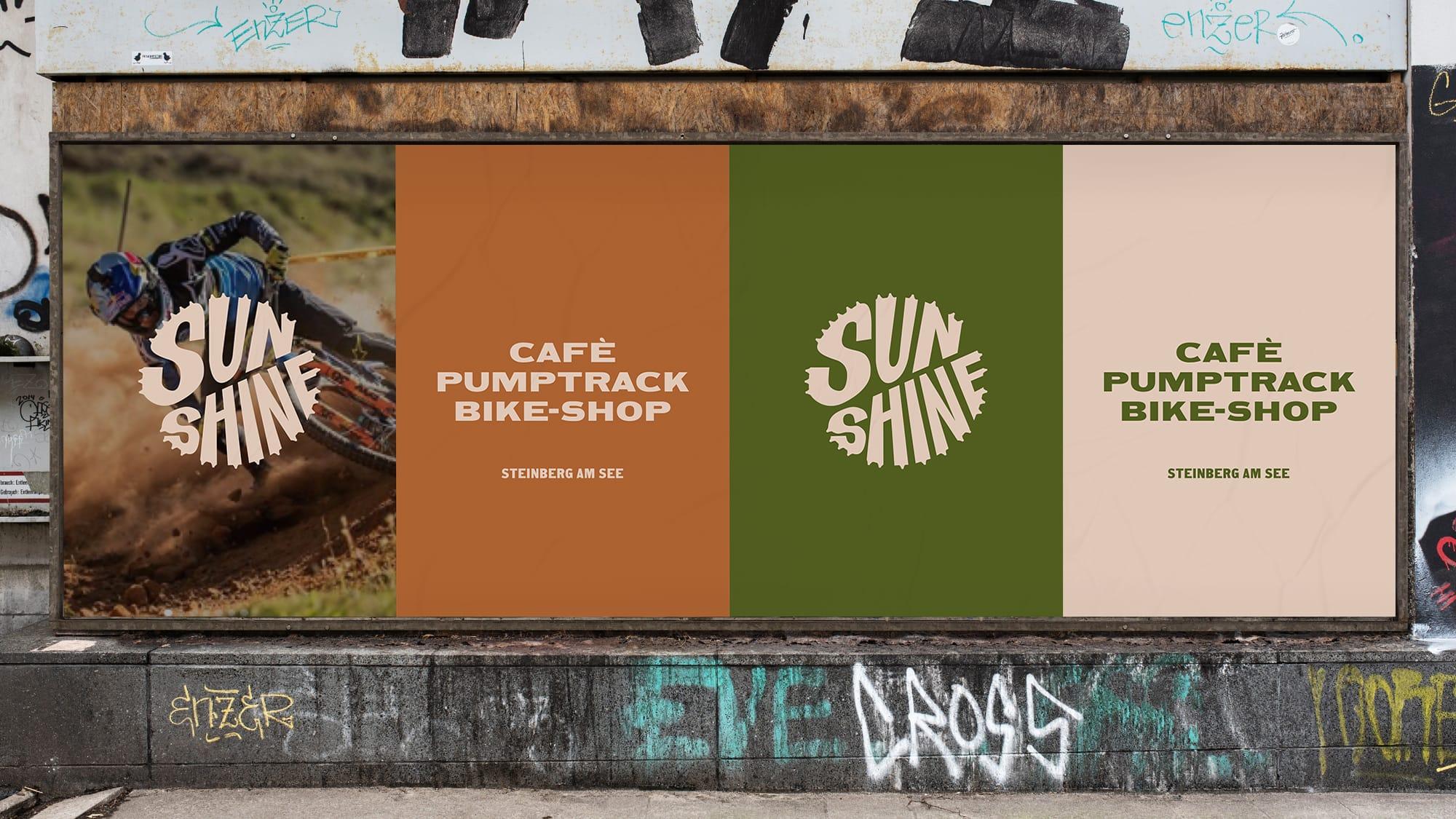 Sunshine Bikes branding on OOH billboards
