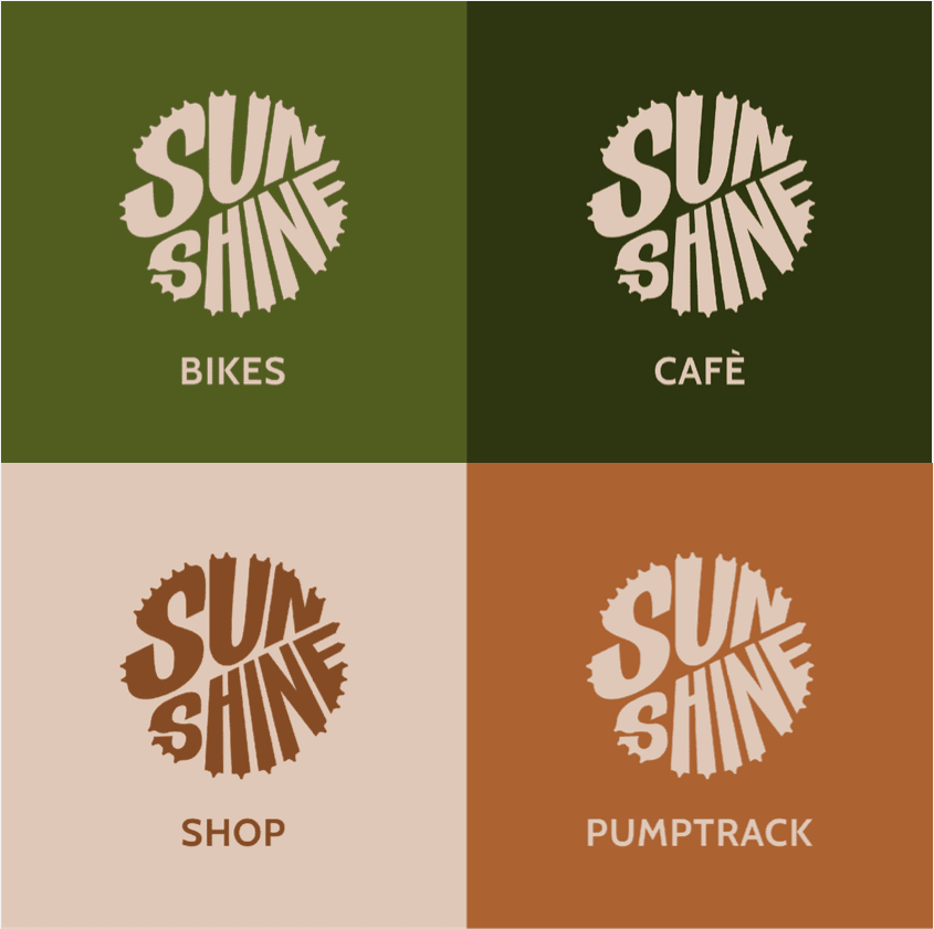 Suneshine Bikes Logo Variations