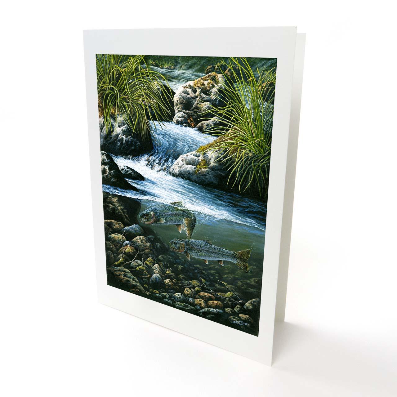 "Sea-Run Cutthroat Trout Greeting Card - ""River Run"""