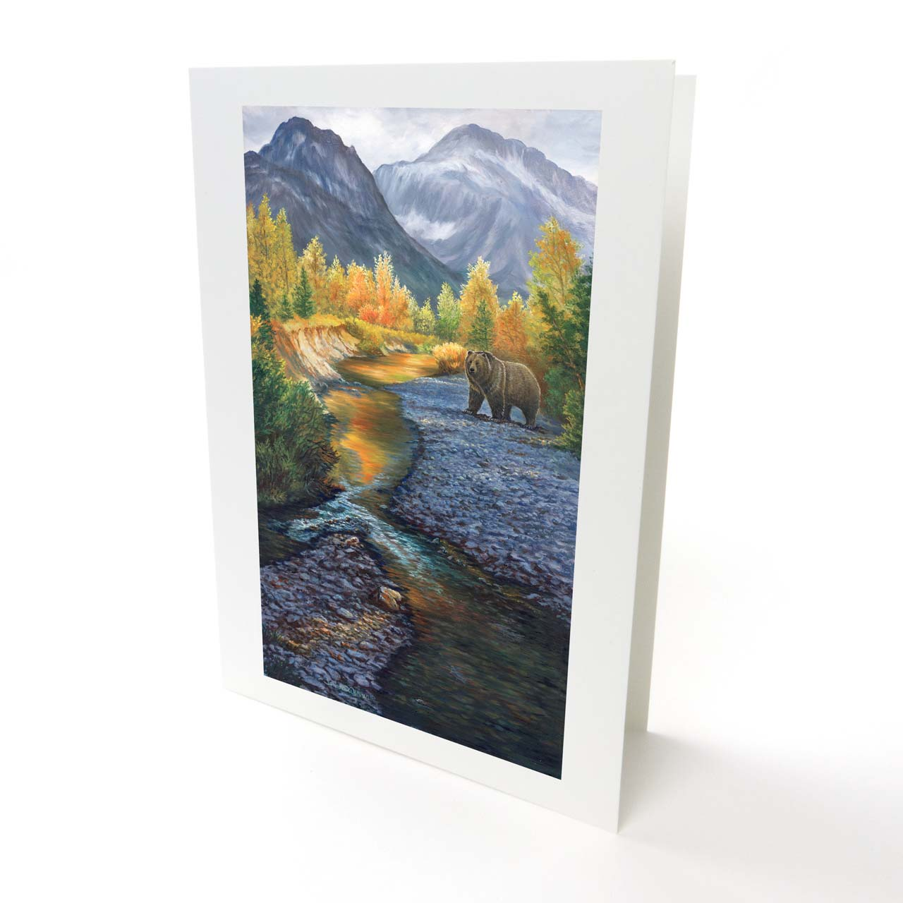 """Grizzly Bear and Grizzly Mountain Greeting Card - """"Grizzly Mountain"""""""