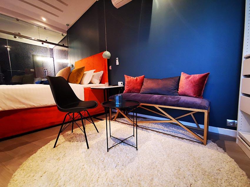 Luxury bedroom art deco blue