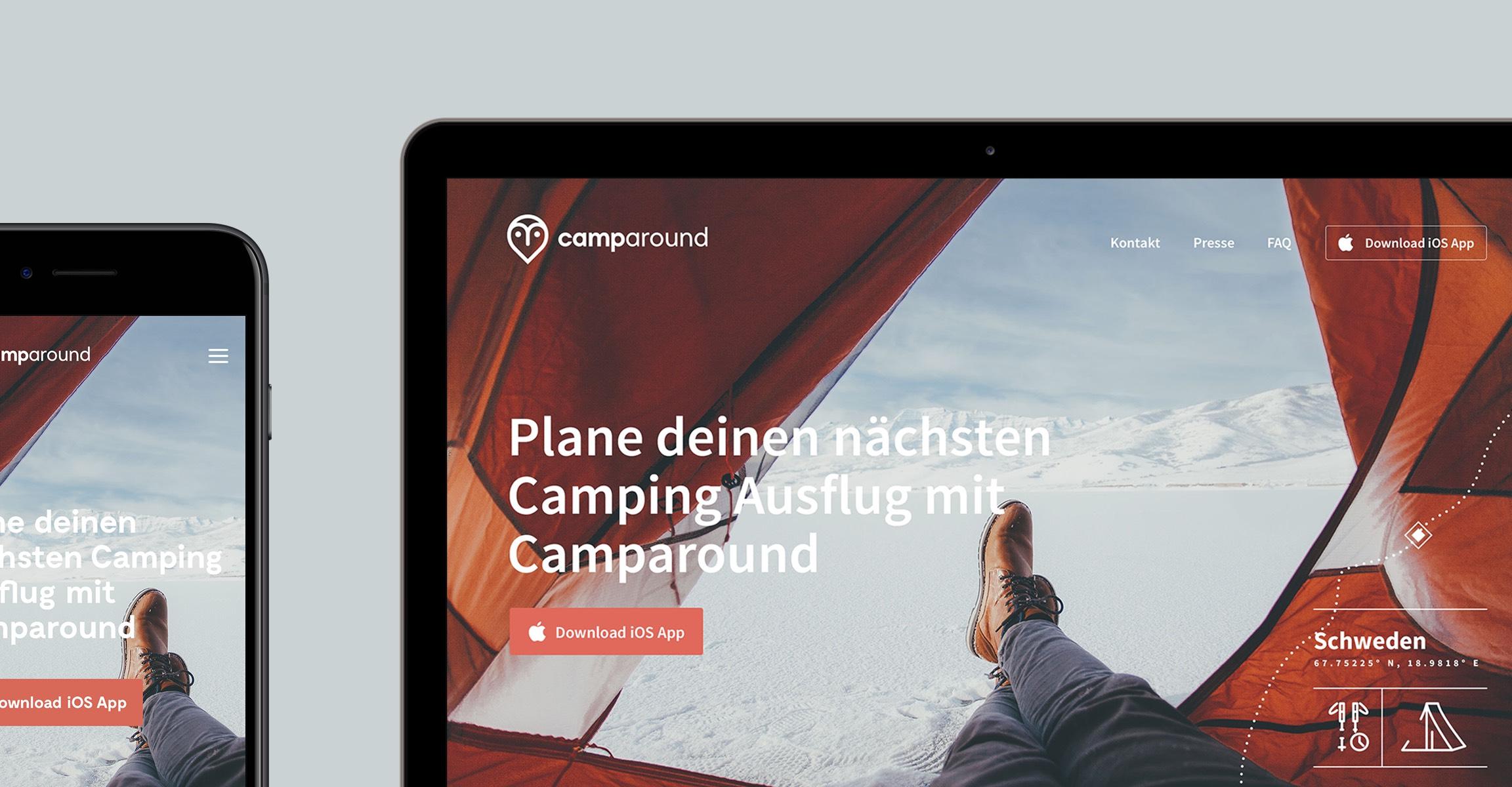 Camparound Referenz Slide 1 Webdesigner aus Schleswig-Holstein