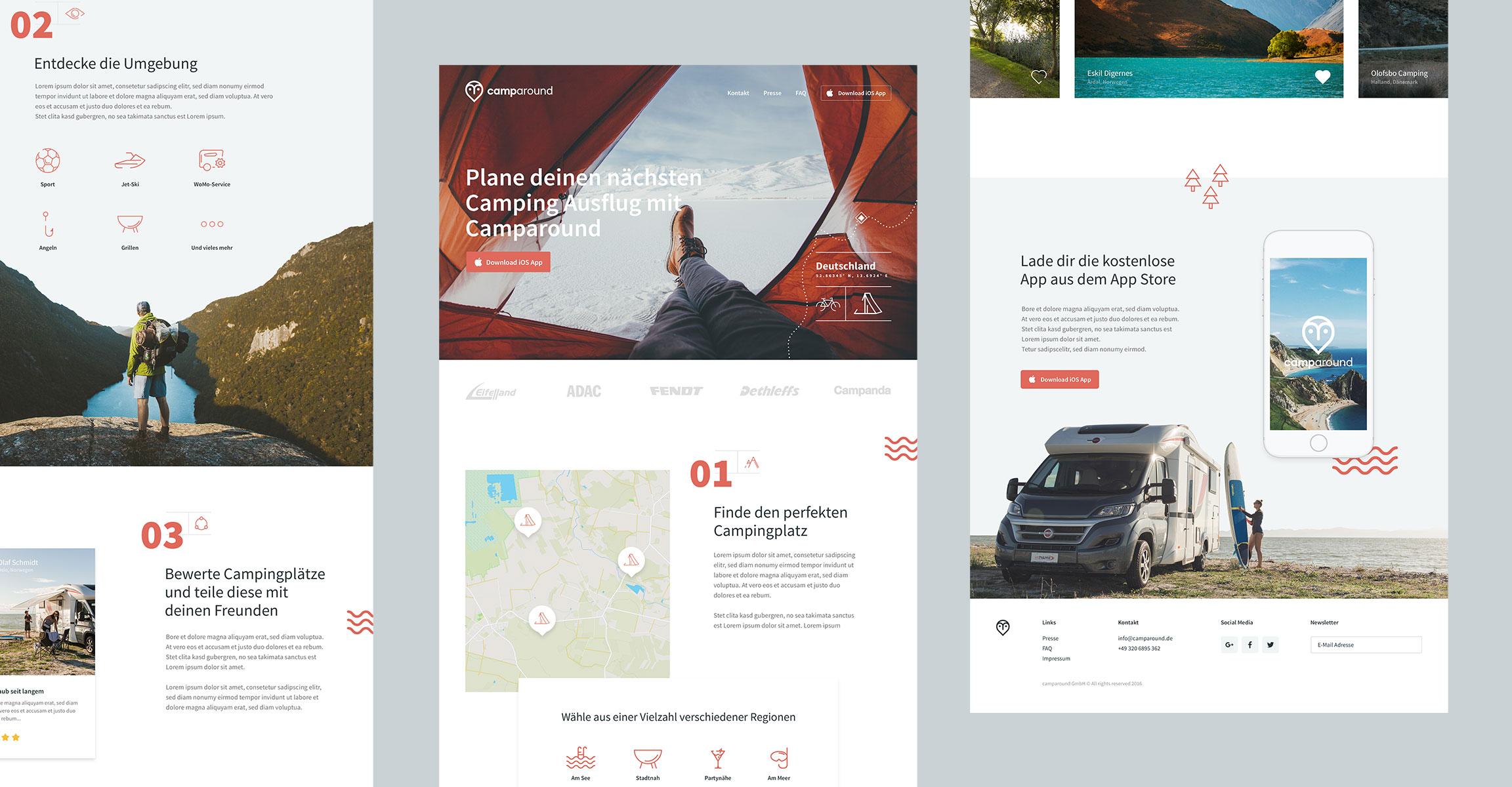Camparound Referenz Slide 3 Webdesigner aus Schleswig-Holstein