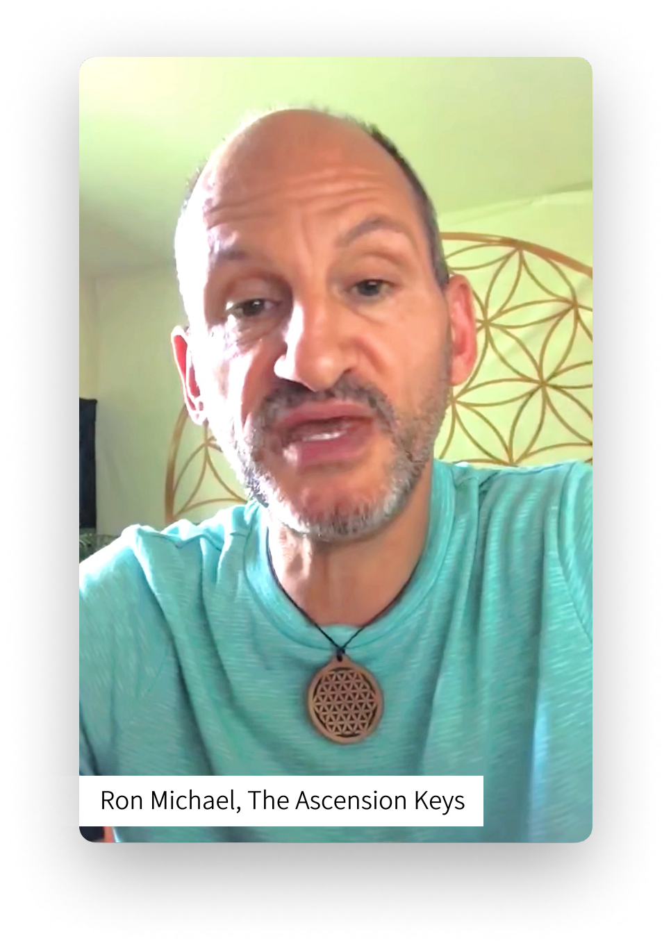 Screenshot of Ron Michael of The Ascension Keys leaving a video review for Relax with Adam Meditation Classes.