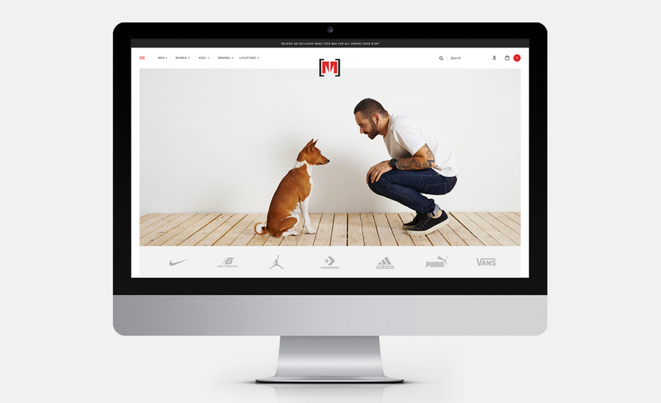 Web design trends 2020 example: web design with neat white space framing