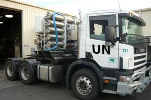 Rendition only of a mobile desalination unit.