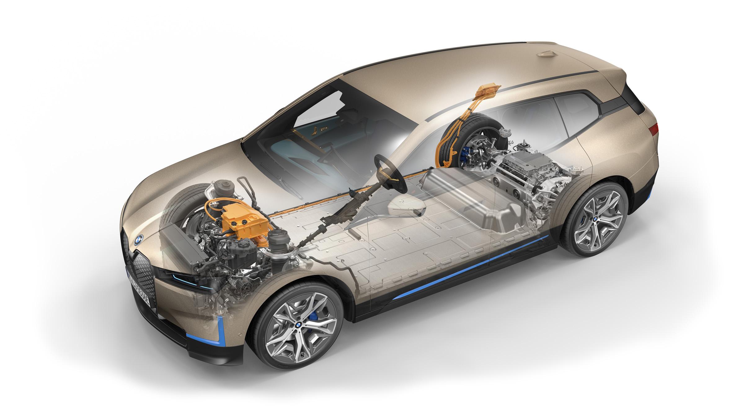 BMW New iX Electric Car platform - technical diagram