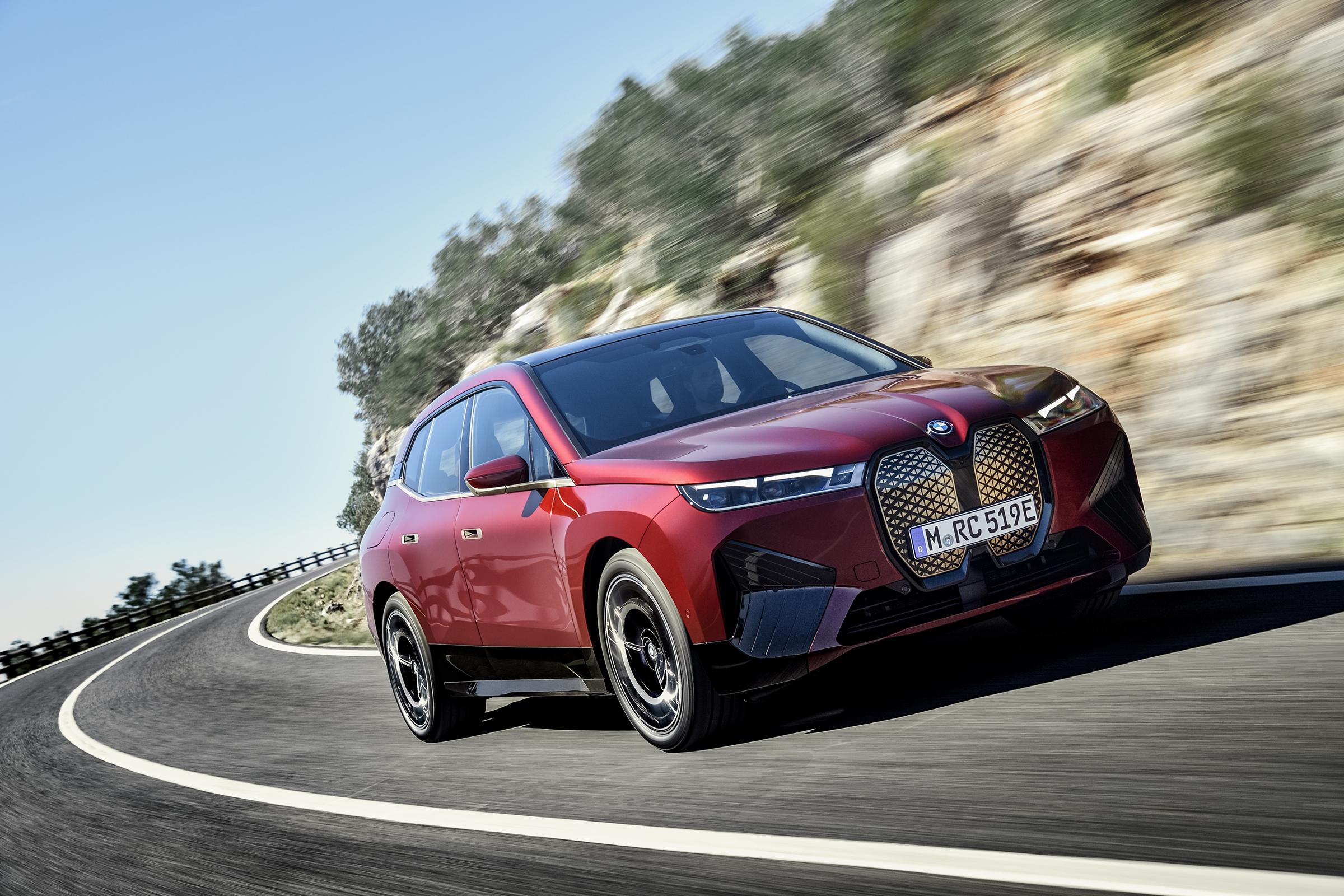 BMW Electric car driving