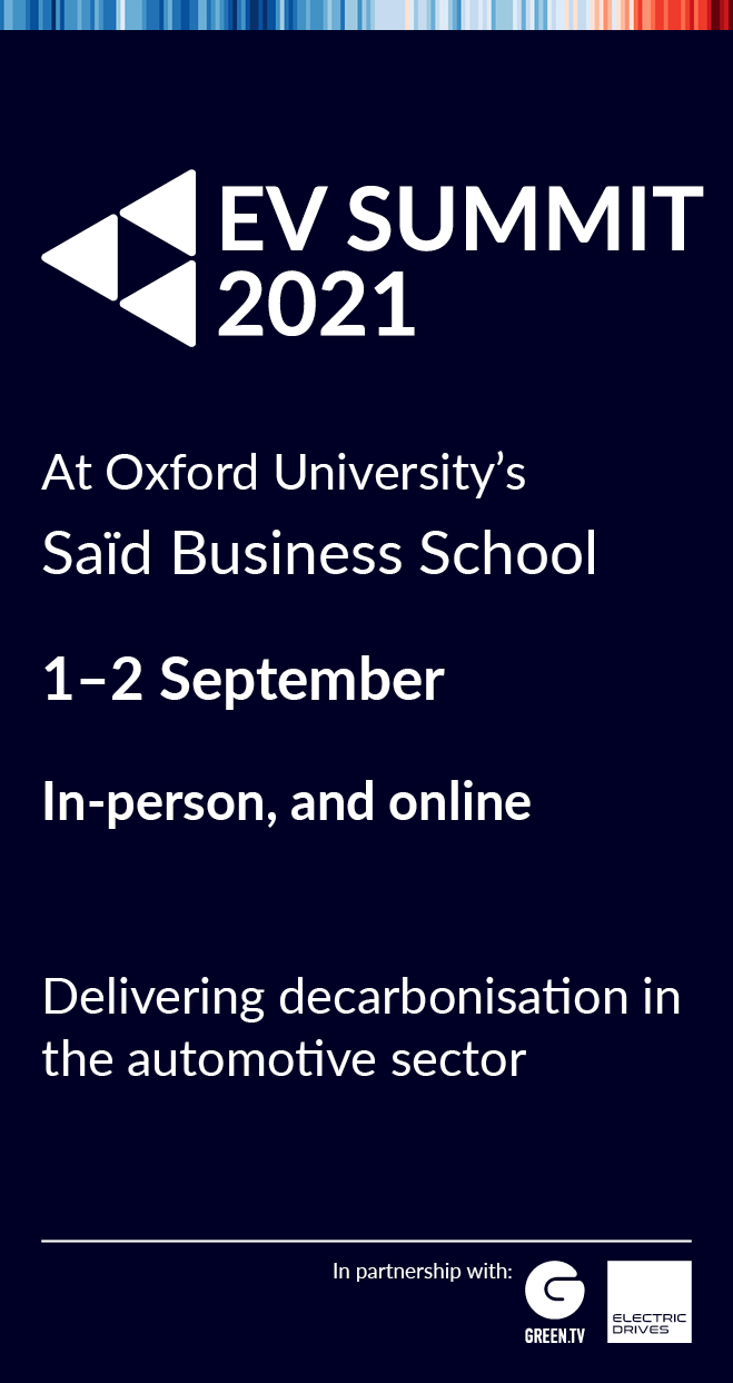Ad info about EV Summit in Oxford with link