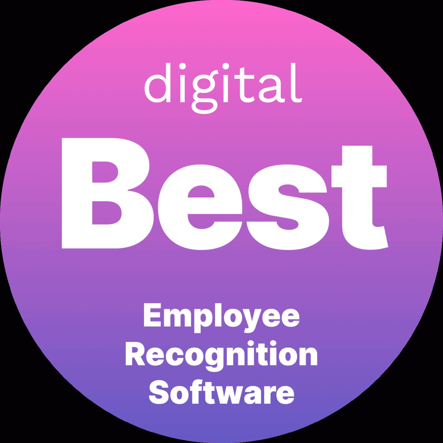Digital badge for best employee recognition software