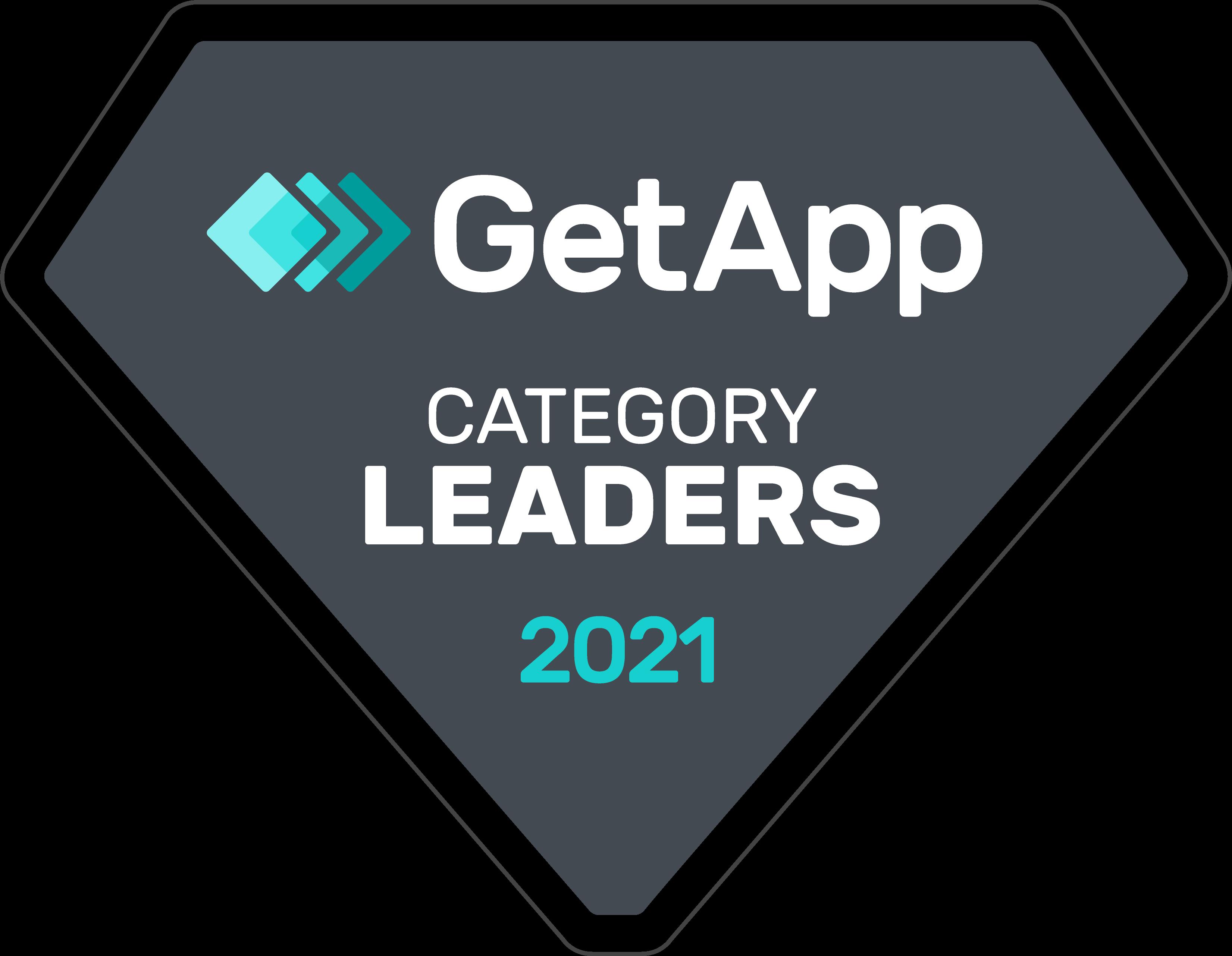 GetApp Category Leader badge for 2021