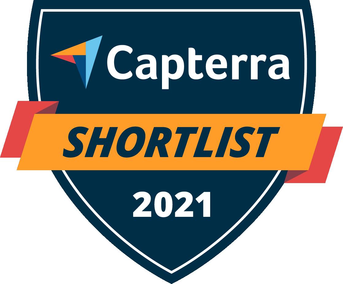 Capterra Shortlist badge for 2021