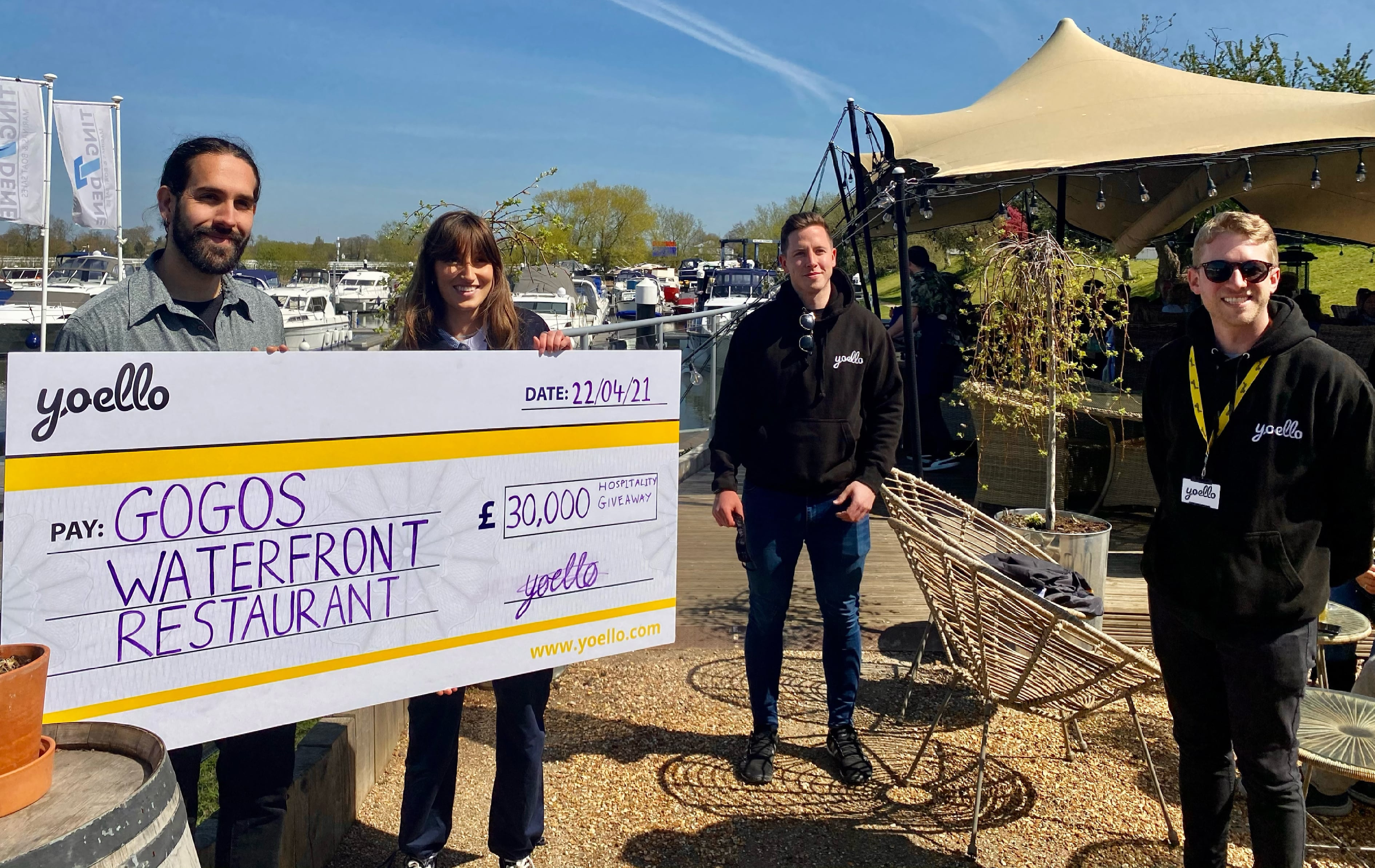 GOGOS Waterfront Restaurant in Windsor wins a game-changing £30,000 'hospitality reopening package'