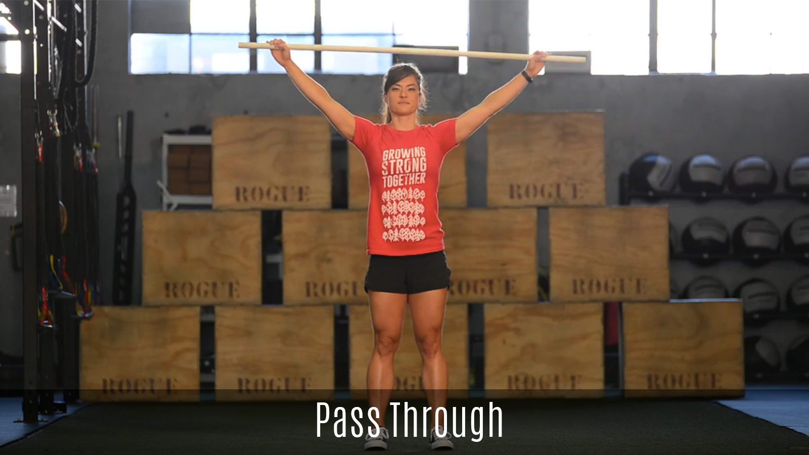 pass through movement demo using pole