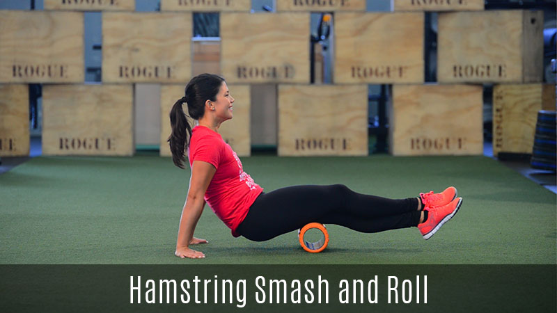 hamstring smash foam roller demo