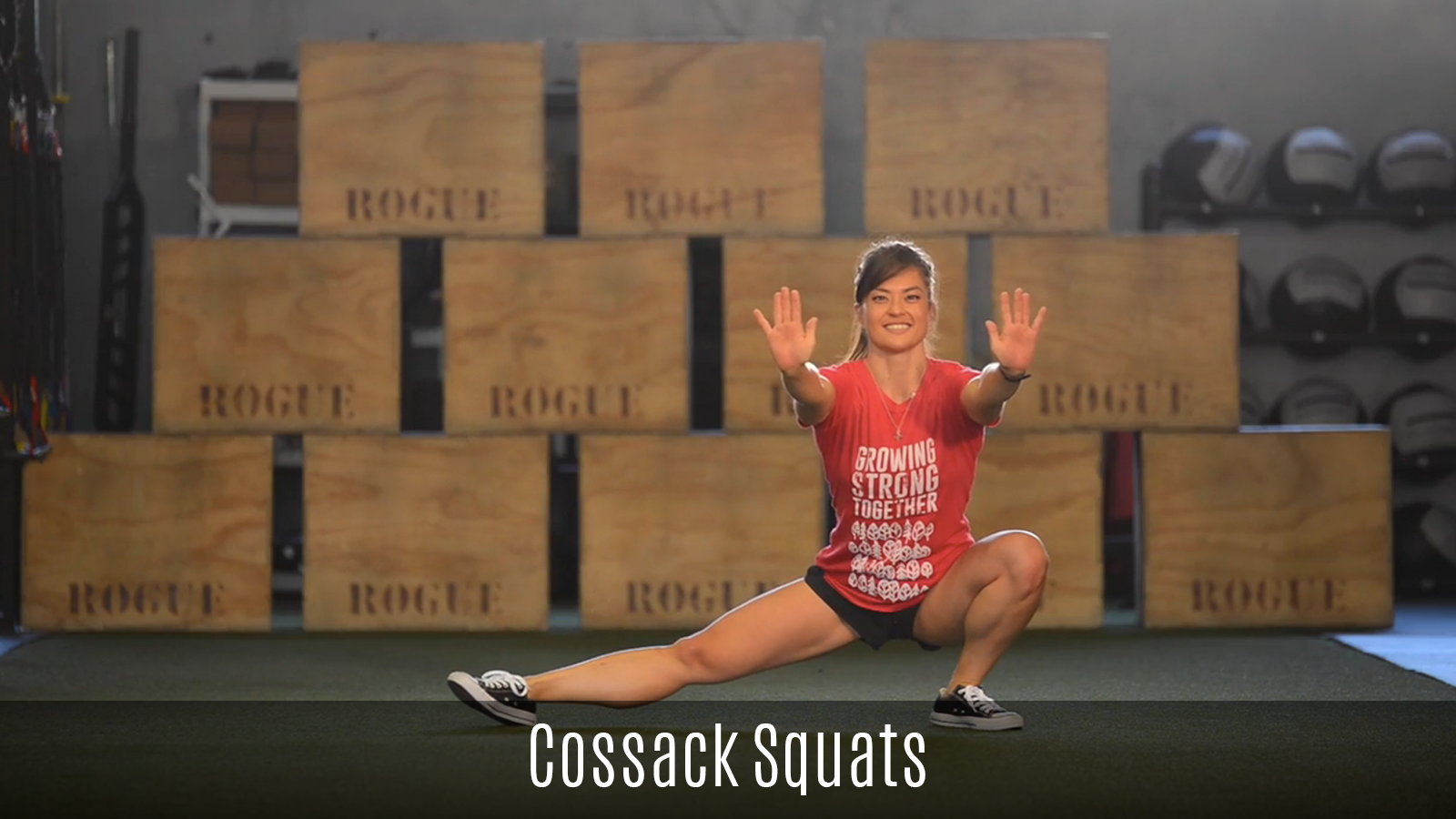 cossack squat demo