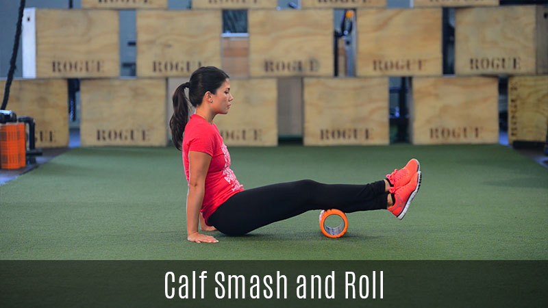 calf smash foam roller demo