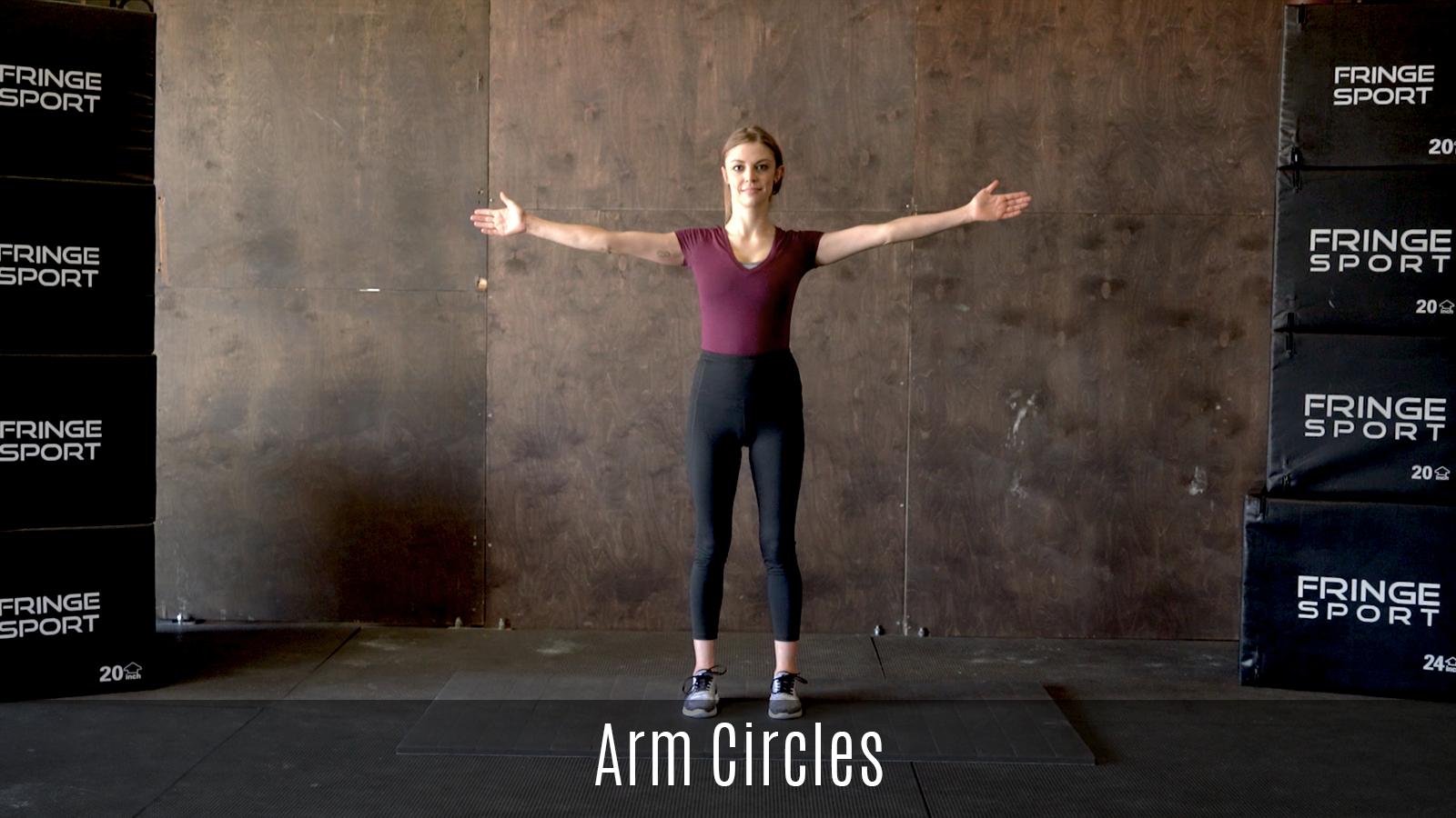 arm circles exercise demo