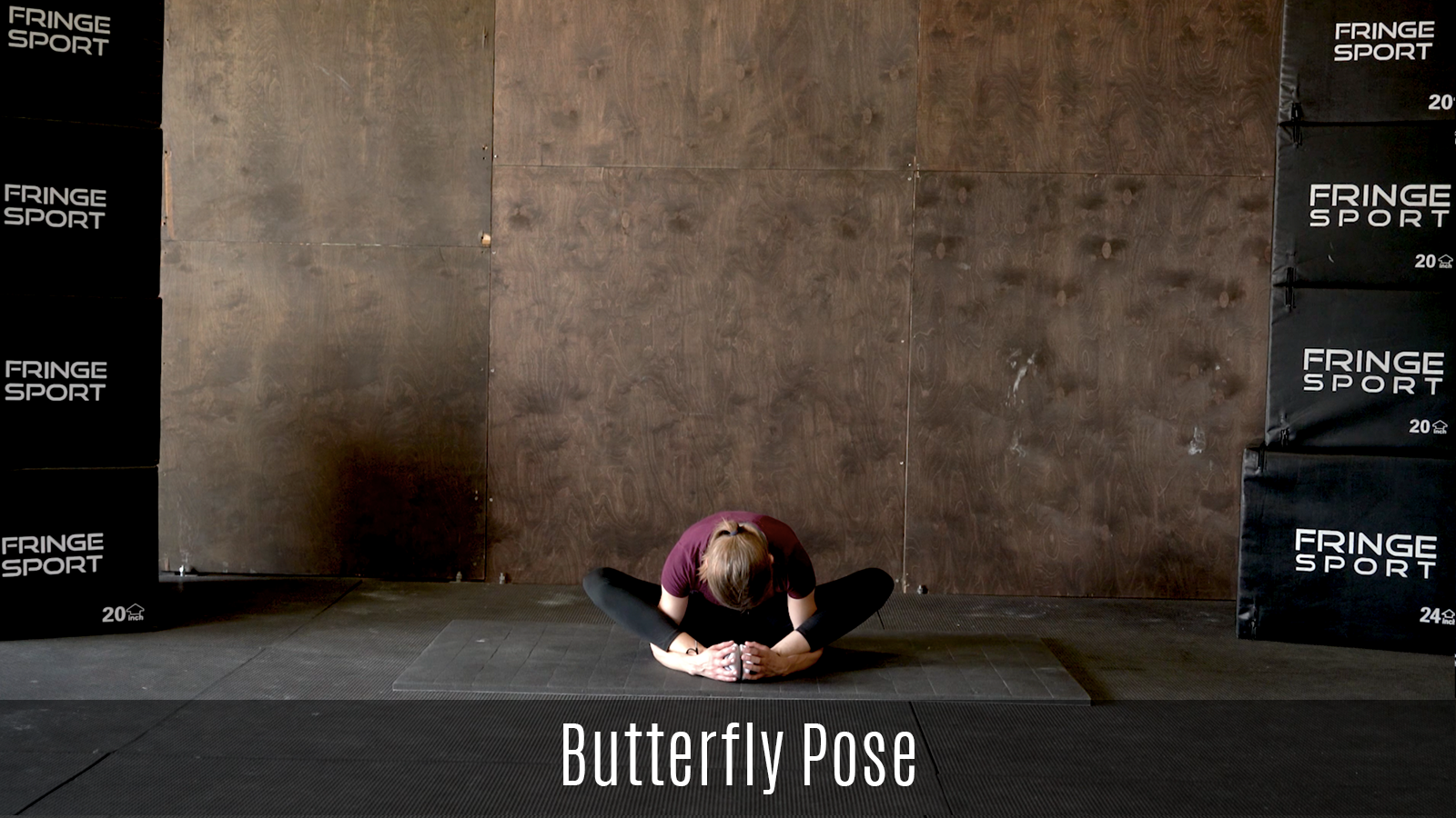 butterfly pose demo