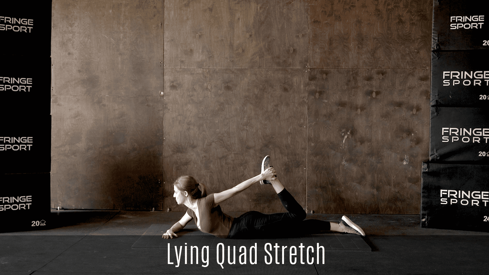 lying quad stretch demo