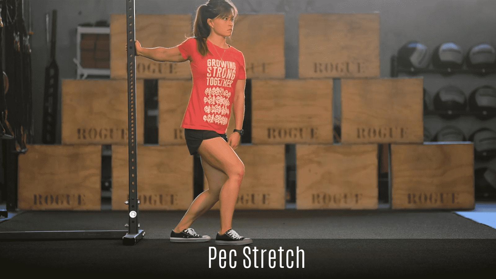 pec stretch demo using rack