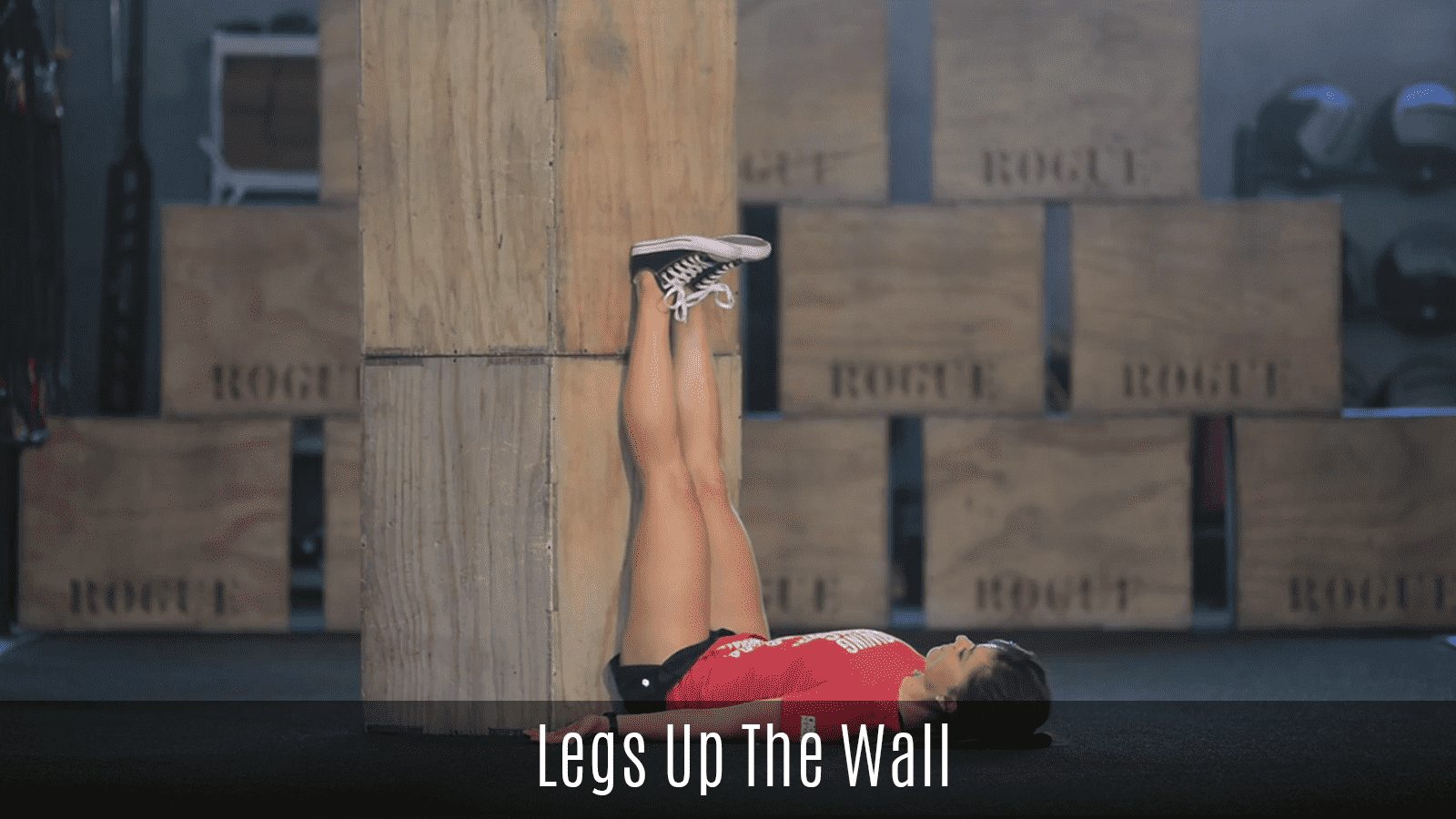 legs up the wall hamstring stretch demo