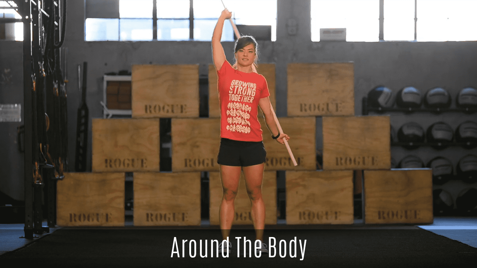 around the body exercise demo using pipe
