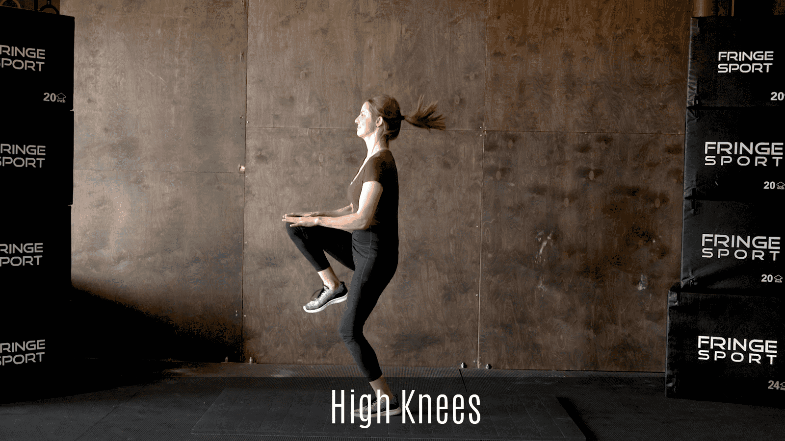 dynamic high knees exercise