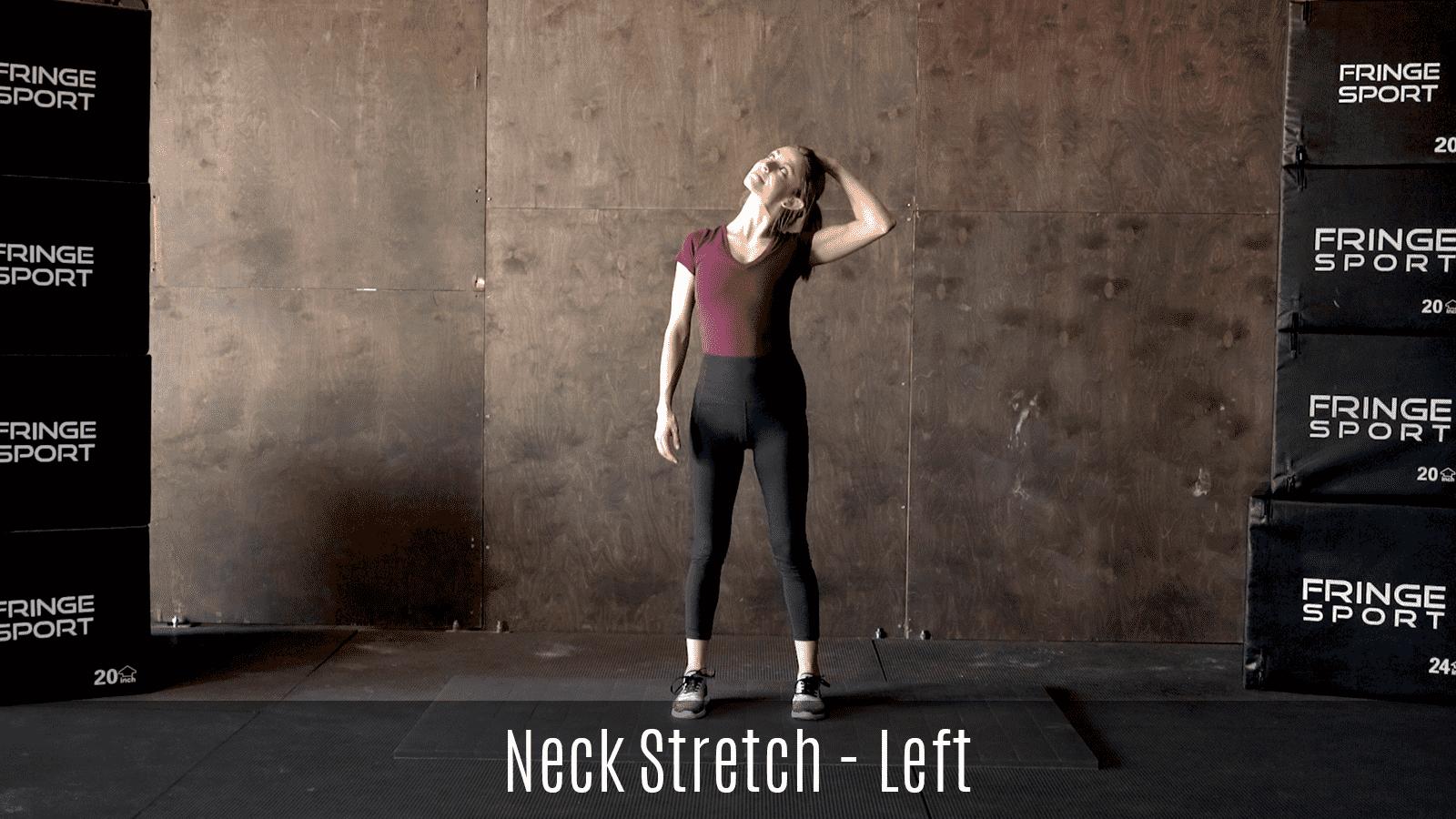 standing neck stretch demo