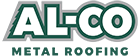 AL-CO Metal Roofing Logo with Green Tagline