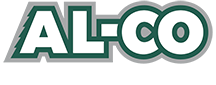 AL-CO Metal Roofing Logo with White Tagline