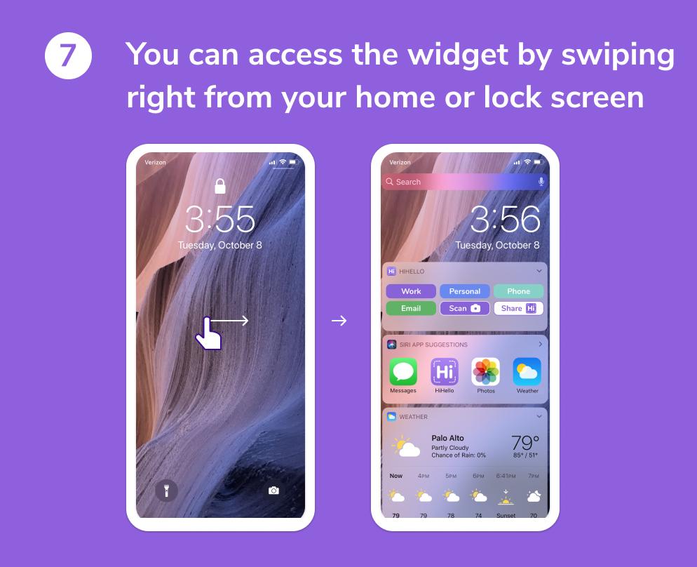 HiHello widget on iOS tutorial complete.