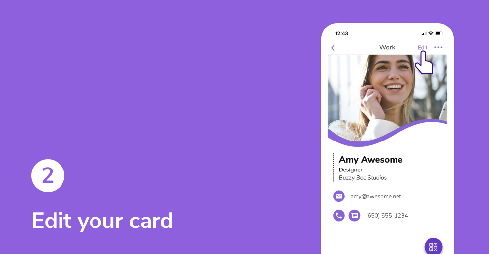 Edit your HiHello digital business card.