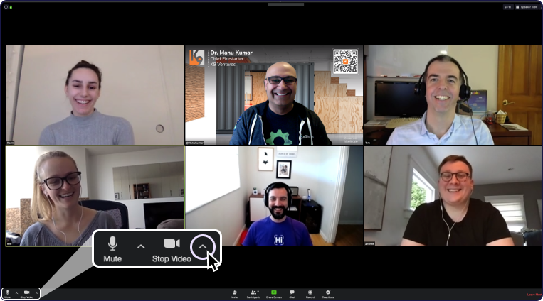 Zoom meeting with six people