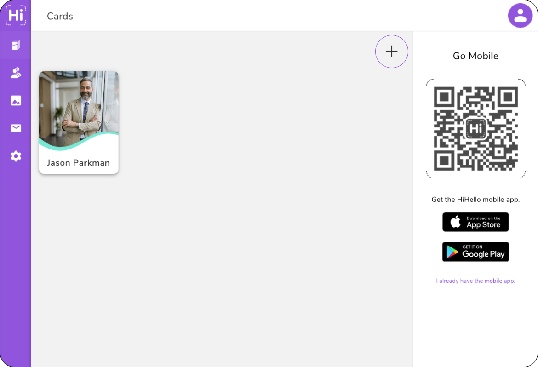 Create an employee digital business card on HiHello Business.