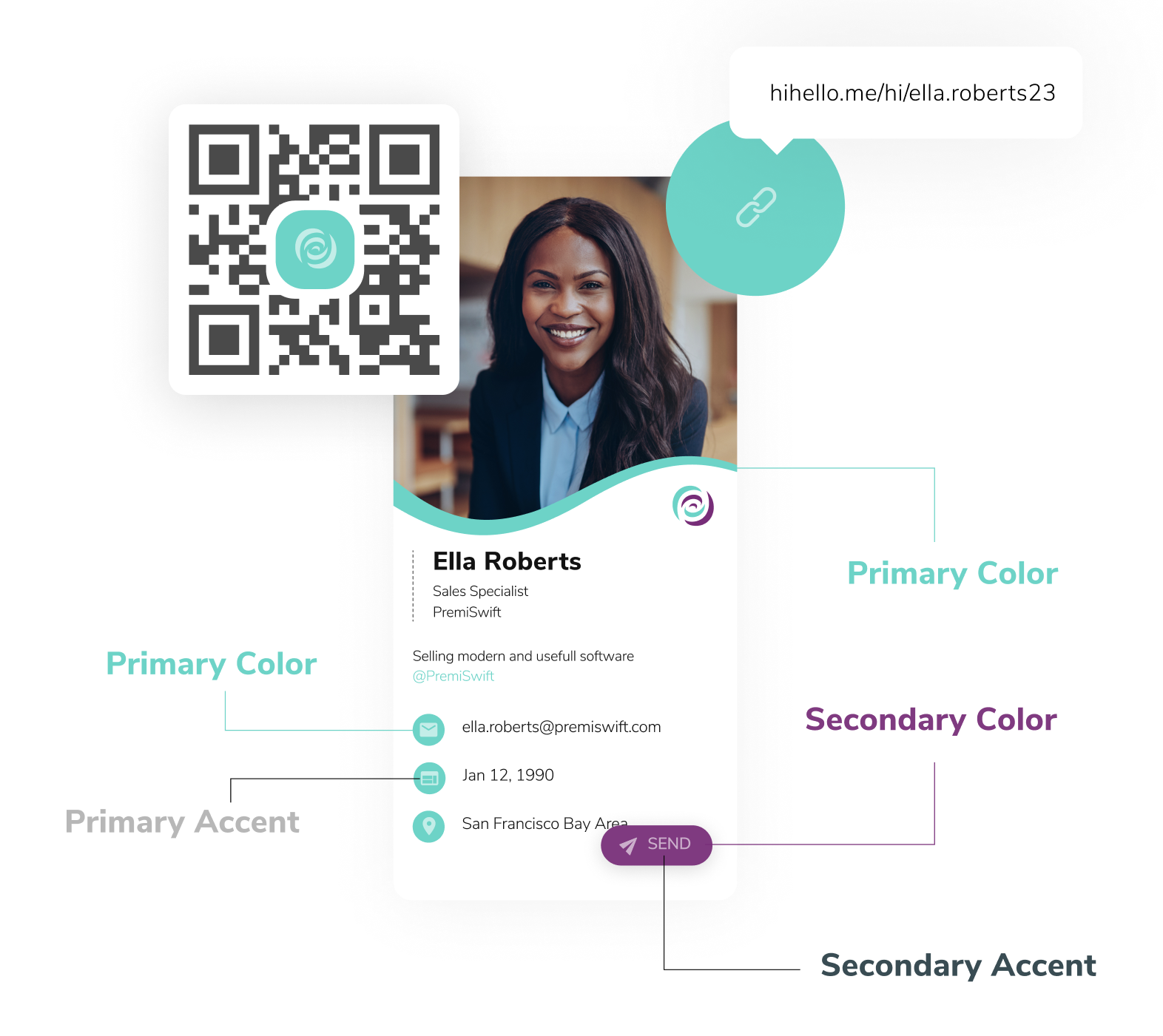 HiHello Professional is a premium digital business card plan for individuals.