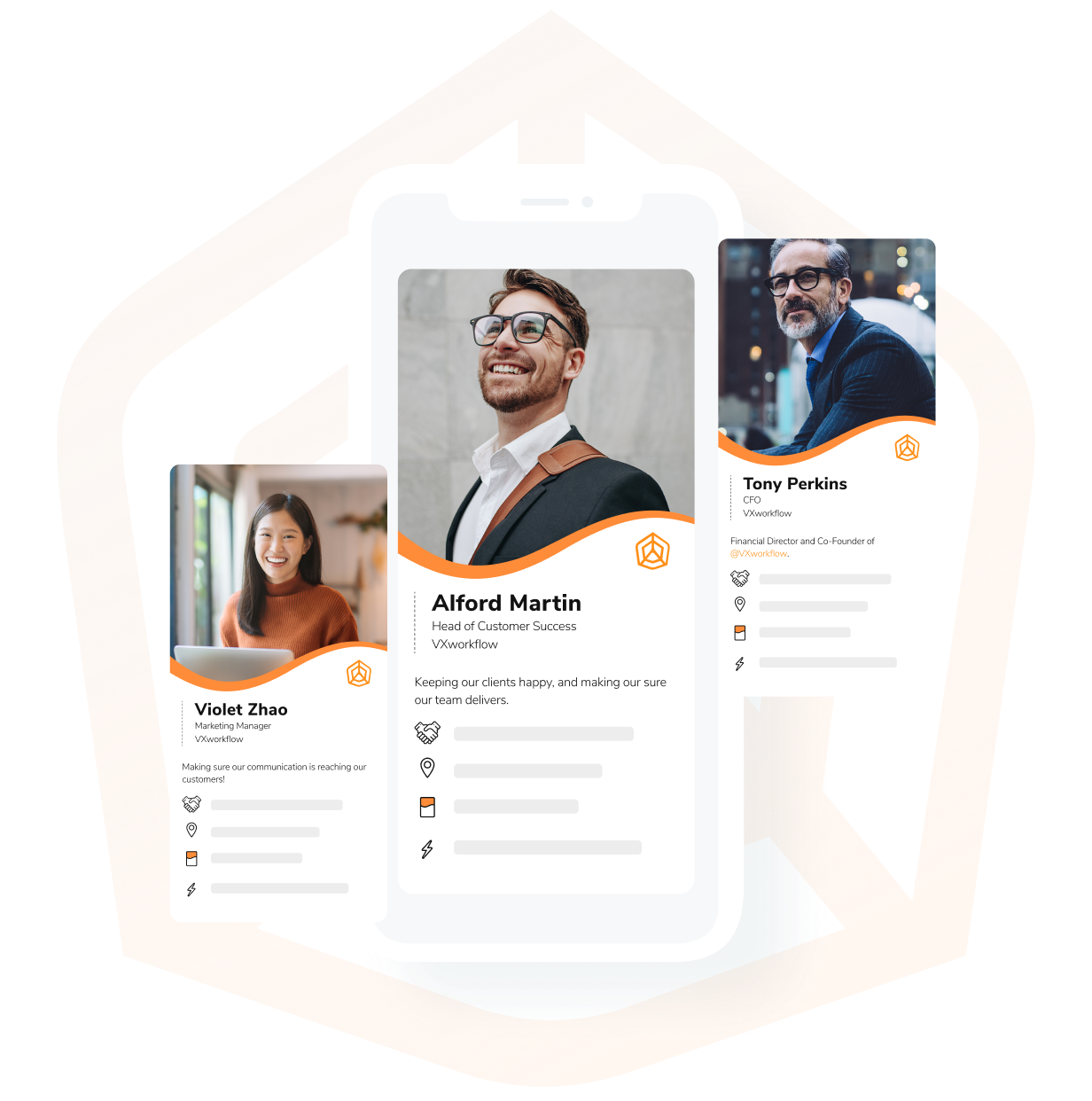 HiHello Business is a premium digital business card plan for teams and companies.