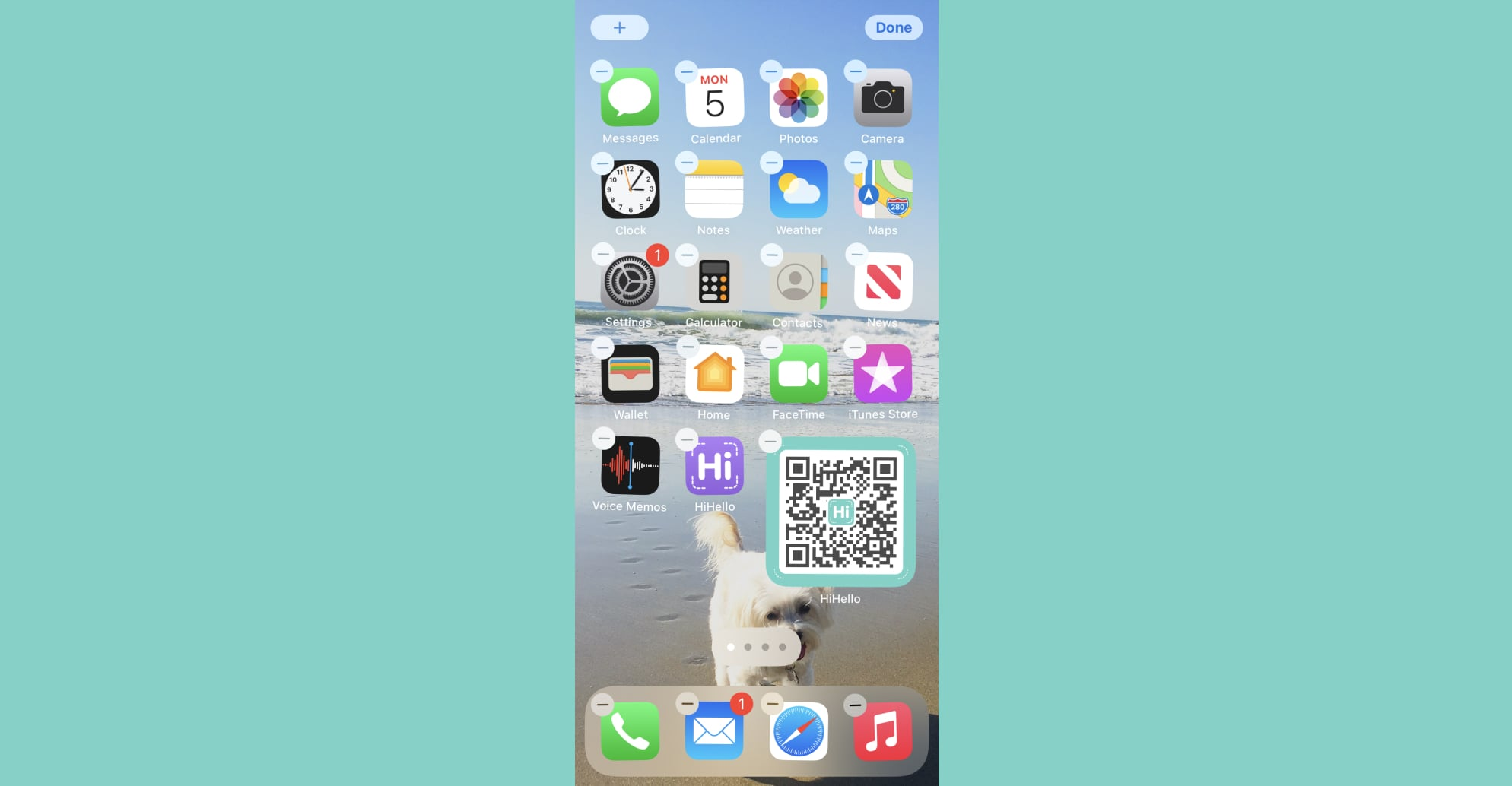 Your HiHello digital business card QR code widget should now be on your iPhone.