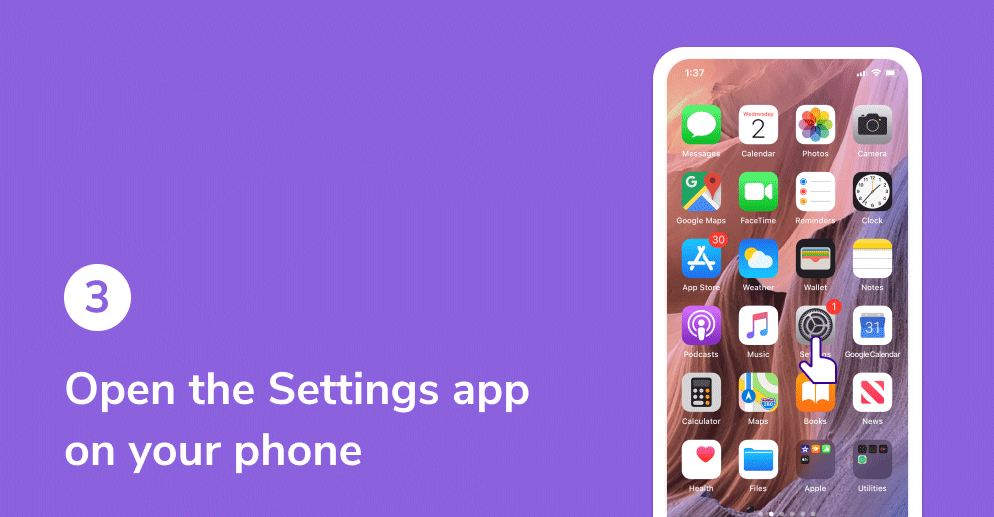 Open the Settings app on your phone