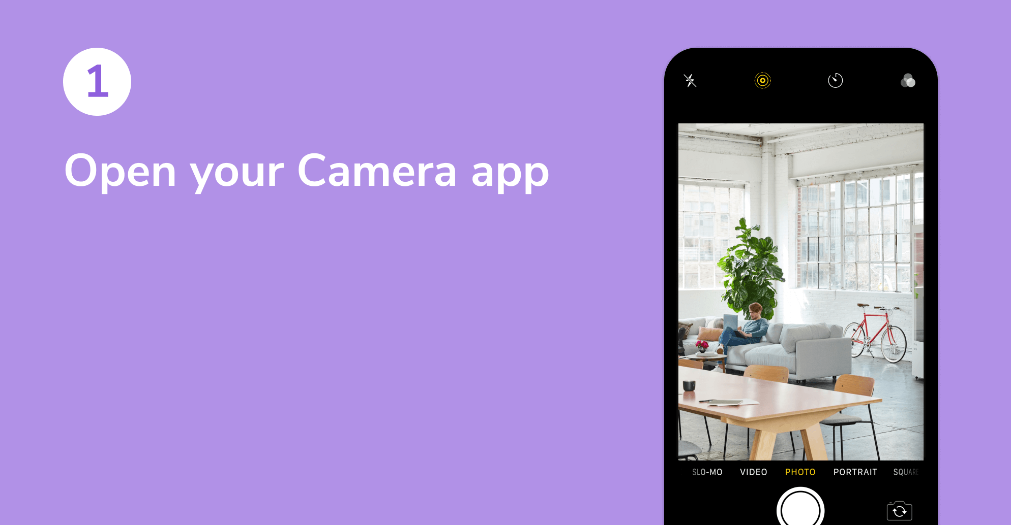 Screenshot of an open Camera app