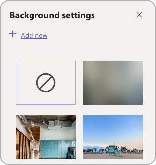 Add a new background in Microsoft Teams settings